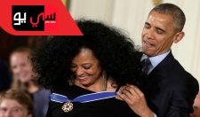 شاهد .. تسريحة ديانا روس تربك باراك أوباما